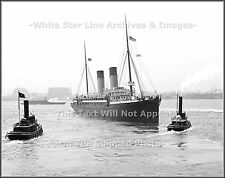 Photo: Rare New View: White Star Line's RMS Majestic In NY Harbor, 1903