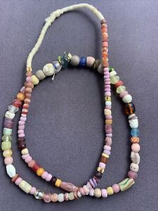 Vintage African Trade this 23 inch of beads strand mix 5175-13