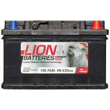 Lion 100 100 Car Battery 3 Years Warranty 70Ah 620cca 12V L278 x W175 x H175mm