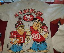 San Francisco 49ers t shirt vintage 90s Flintstones