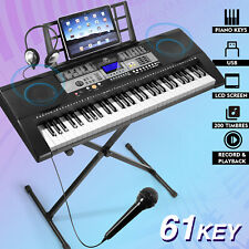 More details for mustar ♬61 full size weighted keys electronic keyboard digital piano lcd screen