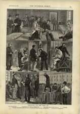 1878 reclutamiento para el ejército residencias de pesaje y Gimnasia de medición
