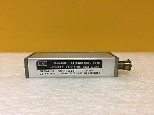 HP / Agilent 5086-7362 DC to 18 GHz, 0 to 70 dB,SMA (F) Step Attenuator. Tested!