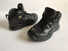 Air Jordan City Collection Boys Black Leather Basketball Shoes Size 10 C