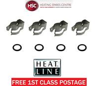 HEATLINE MAIN HEAT EXCHANGER CLIPS & ORINGS 3003201544 X 4 3003200754 X 4 - NEW
