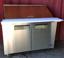 """Atosa Msf8306 48"""" 2 Door Mega Sandwich Prep 18 Stainless Pans Free Liftgate Del."""
