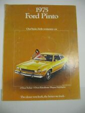 Automobile Car Brochure Ford Pinto 1975-Yellow