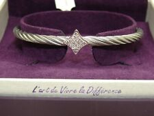 "CHARRIOL BEAUTIFUL ""LES DÉBUTANTES"" SILVER STAR & TOPAZ BANGLE - NEW WITH TAG!"