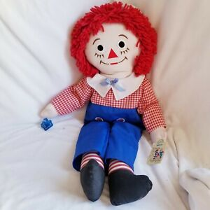 """applause 25"""" raggedy andy with hat new with tags"""