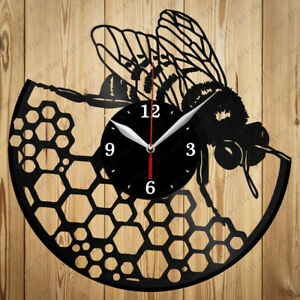 Vinyl Clock Bee Vinyl Record Clock Handmade Original Gift 6089