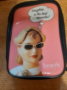 """BENEFIT make-up bag,never used ,see pictures,measures 7"""" x 5"""",clean."""