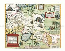 Moscow 1556 Oldest Historic Map 18x24