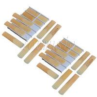 2 Sets Bb Tenor Saxophone Mounthpiece Reeds 2-1/2 Size Plastics Box of 10Pcs