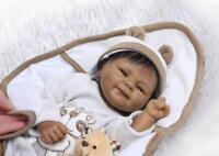 "18"" Biracial Black African American Girl Boy Reborn Baby Dolls Handmade Ethnic"