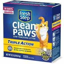 New listing Fresh Step Clean Paws Triple Action Cat Litter, Low Track, Scented, Low Dust,.