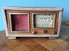 altes Radio Puppenstube Puppehaus dollhouse radio