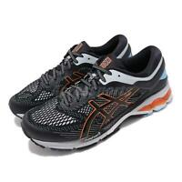 Asics Gel-Kayano 26 Black White Orange Men Running Shoes Sneakers 1011A541-004