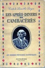 C1 NAPOLEON Lamothe Langon APRES DINERS DE CAMBACERES Epuise REVOLUTION Bon Etat
