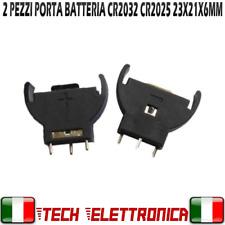 2PZ PORTA BATTERIA PER CR2032 BOTTONE PIATTA A LITIO CONTENITORE MONTAGGIO PCB