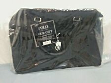 POLO Ralph Lauren Travel WEEKENDER Overnight DUFFEL Gym CARRY-ON Bag BLACK NWT