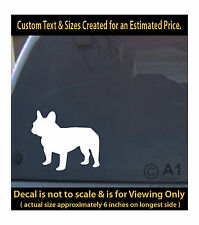 french bulldog 6 inch decal pet lover man best friend car laptop more swp1_41b