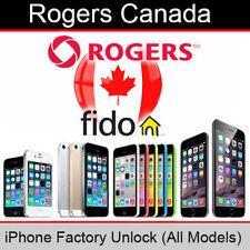 Unlock Rogers / Fido Canada iPhone 4/4S/5/5S/5C/6/6+/6S/6S+/SE/7/7+/8/8+/X