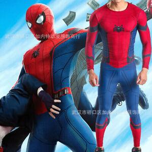 Spider-Man Homecoming Set Suit Spiderman Cosplay Costume Adult Kids Halloween 03