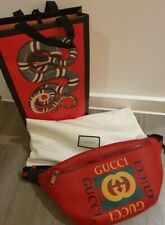 Gucci Print leather belt bag 100% genuine RRP £900