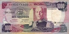 BILLET BANQUE ANGOLA 1000 escudos 1972 état voir scan 696