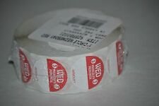 """Trilingual Food Rotation Labels, 1"""" Circle Wednesday Red, 1000 Per Roll"""