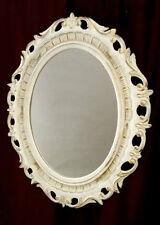 rococò specchiera a parete specchio ovale Bianco oro ANTICO specchiere BAROCCO