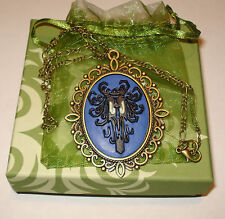 Cameo Necklace Victorian Haunted Mansion Spooky Wallpaper Eyes Glow