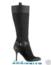 NEW $1115 CHRISTIAN DIOR DIORISSIMO BOOTS GAUCHO BUCKLE