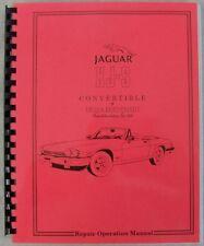 1986 1987 1988 Jaguar XJS XJ-S Convertible Shop and Parts Manual