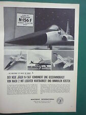 2/1959 PUB NORTHROP INTERNATIONAL N-156F USAF FIGHTER MACH 2 JAGER GERMAN AD