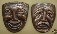 Comedy and Tragedy Pair Theatrical Mask Wall Hanging