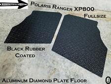 Polaris Ranger XP800 Fullsize Black Aluminum Diamond Plate Floor Cover 2009-14