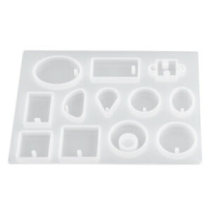 12 Silicone Mould Pendant Jewelry Making Round Necklace Mold Resin Craft DIY Lqr