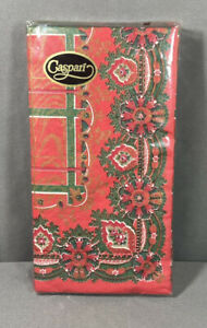 Caspari Christmas Holiday Paper Triple Ply Dinner Table Party Napkins Sealed