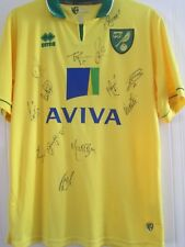 Norwich City 2012-2013  Squad Signed Home Football Shirt /41793
