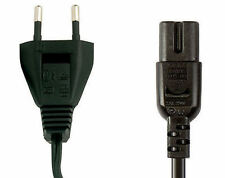 European / Euro Universal 2-Prong Power 230V Line Cord ~ Lot Of 5