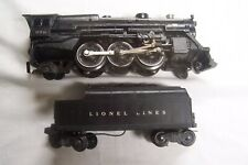 LIONEL # 2065 2-6-4 STEAM ENGINE WITH ALUMINUM SMOKE STACK 6466W TENDER EXCELLEN