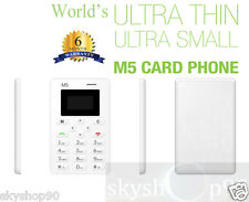 AIEK M5: Lightest, Lowest Radiation Slim Credit Card Size GSM  Mobile Phone