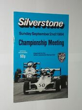 Silverstone September 2nd 1984 Championship Meeting Official Programme.
