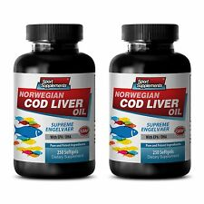 Fermented Cod Liver Oil - Norwegian Cod Liver Oil 600mg - Metabolism Miracle 2B