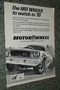 ★1970 MOTOR WHEEL ORIGINAL ADVERTISEMENT AD 70 MAGS RIMS MAGNUM 500 GTX