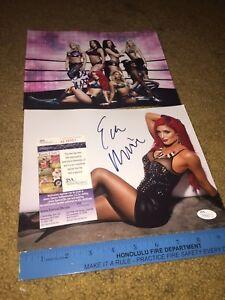 Lot of (2) NATALIE EVA MARIE SIGNED AUTOGRAPHED WWE 8X10 PHOTO WRESTLING-JSA COA