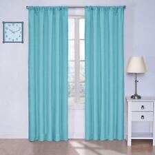 "NEW Eclipse Kids Kendall Blackout Window Curtain Panel in Turquoise, 42"" x 63"""