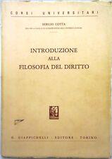 J 9542 VOLUME INTRODUZIONE ALLA FILOSOFIA DEL DIRITTO DI SERGIO COTTA 1984