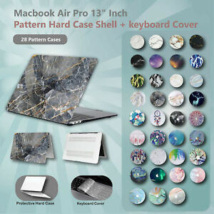 "For Apple Macbook Air Pro 13"" Inch Pattern Hard Case Shell + keyboard Cover"